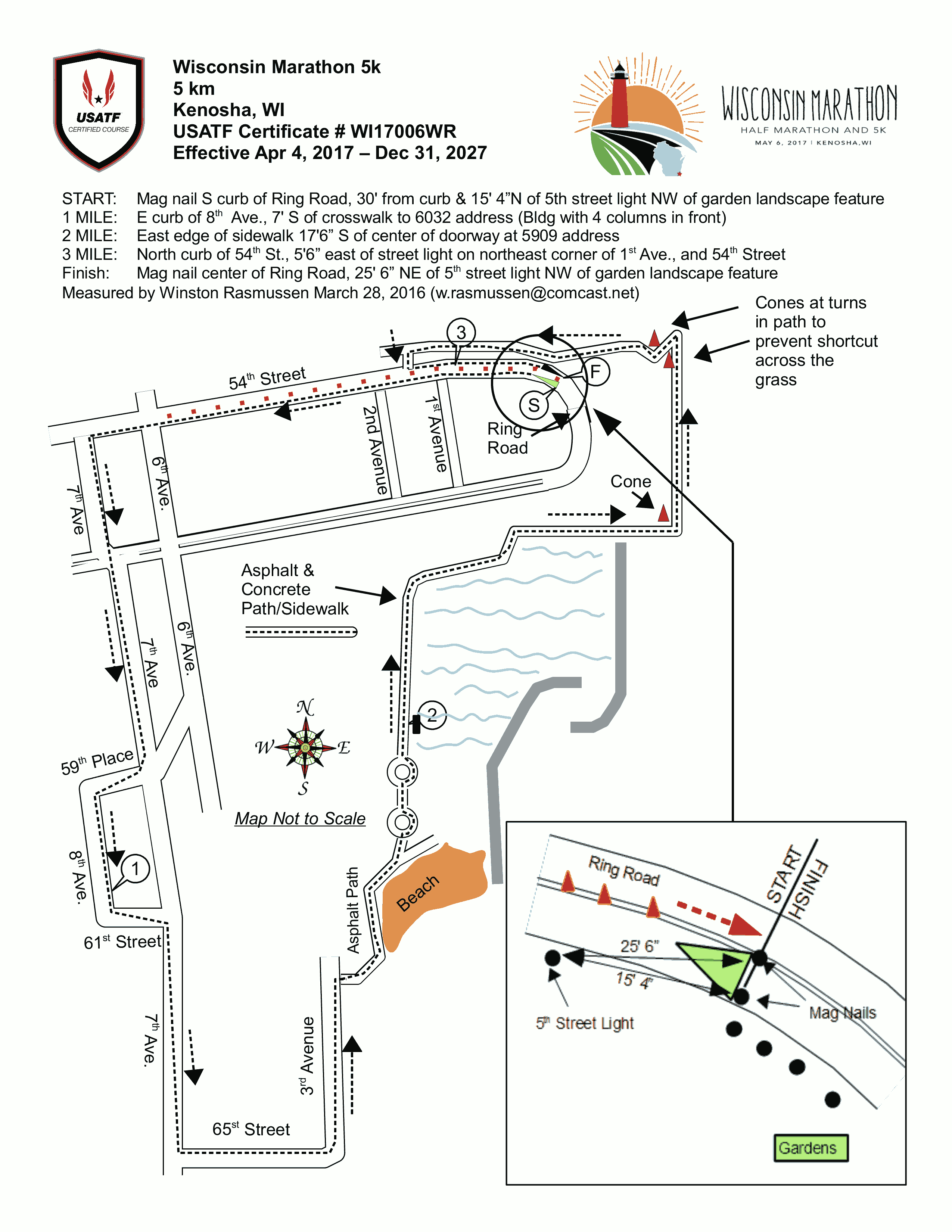 Course Description  Wisconsin Marathon - Chicago marathon map